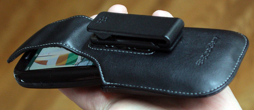 Palm Pre in Blackberry holster