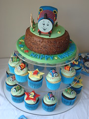 Thomas the tank engine cake & cupcakes (Angelina Cupcake) Tags: birthday cake train james tank thomas engine cupcake angelina percy