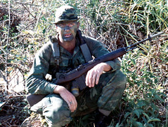 Sniper (eks4003) Tags: usmc war gun kill rifle vietnam charlie jungle killer weapon sniper rod stick marines piece vc patrol nam m14 nva warfare slay vietcong rifleman recon lrrp