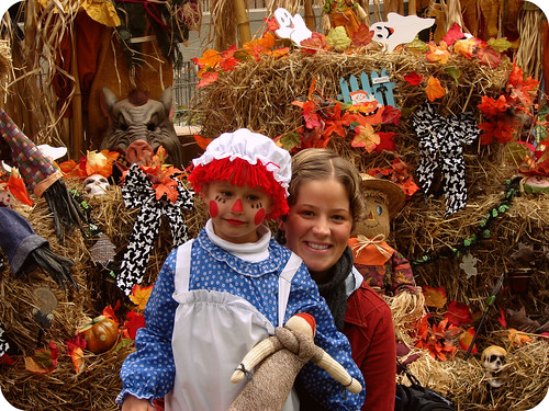 Zoey and Mama at the Zoo Boo