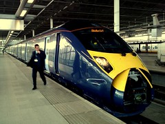 Southeastern St Pancras (kpmarek) Tags: uk england london station train platform rail railway international driver stpancras highspeed southeastern class395 javellin tmobileg2 htchero southeasternhighspeed