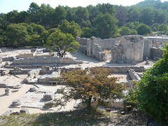 Glanum - Les Antiques - restes du Forum et de la basilique (Vaxjo) Tags: france saint ruins roman du rhne empire provence 13 romain ruines antiquities glanum antiquits rmy bouches romaines