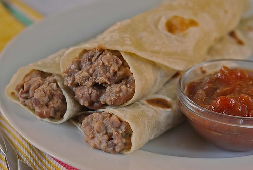 Beefy Refried Beans for Quick Burritos and More bean burritos.jpg