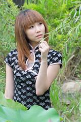 [フリー画像] 人物, 女性, アジア女性, ドレス, チャイナドレス, 台湾人, 201106091500