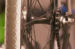 Focus stacked tires and power train. (rexp2) Tags: bicycle fixie fixedgear beatnik jamis nikkormicro105mmf28 nikond300 zerenestackerfocusstacking