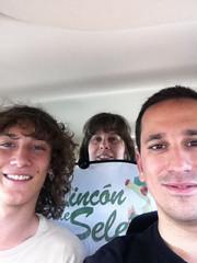 Blai, Rebe y yo en el coche