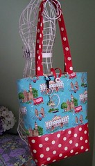 London calling bag 1 (buggletquilts) Tags: london bag moda tote laminate cathkidston redpolkadot