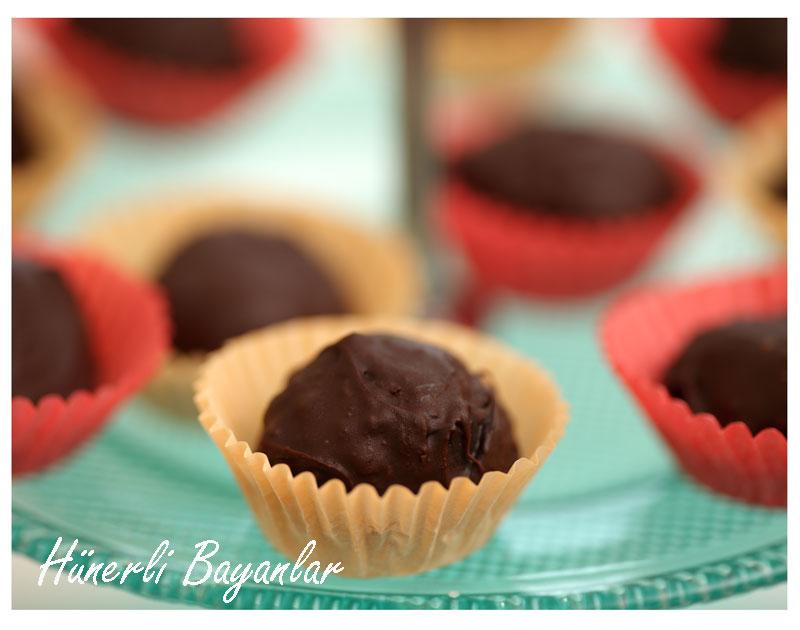 Cevizli Çikolata Truf (walnut chocolate truffles) 1