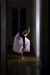 280. Ballerina (Aimepi) Tags: shadow woman classic contrast dark dance rat ballerina opera lumire femme ombre hallway contraste tutu couloir classique ballerine