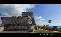 Tulum fortress in front of Caribbean sea - Yucatan, Mexico (lathuy) Tags: old mer mexico ruins maya fort playadelcarmen tulum mayan mexique fortress civilisation ruines yucantan