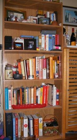 Reorganized Large Cookbook Bookcase