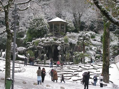 Bom Jesus de Braga com Neve