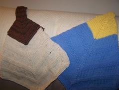 Hanging mitered towels (DiggerJill) Tags: towels mitered miteredtowels