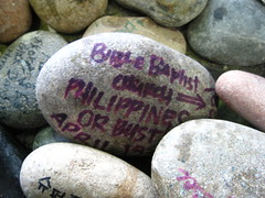 "Detroit Planter Stones - ""Bible Baptist Church, Philippines or Bust"""