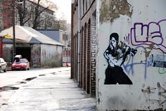 (@tone) Tags: streetart norway oscar stencil bergen 2009 jeanclaude dolk