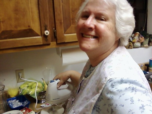 Grandma whipping cream