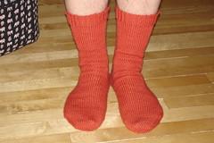 Andrew's orange socks