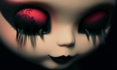 MakeUp's detail (erregiro) Tags: dark nose eyes doll drawing gothic makeup style lips carve moore blythe mold nm custom natasha eyelids sbl gtica erregiro howlita