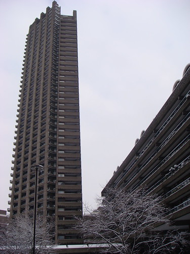Barbican in the snow