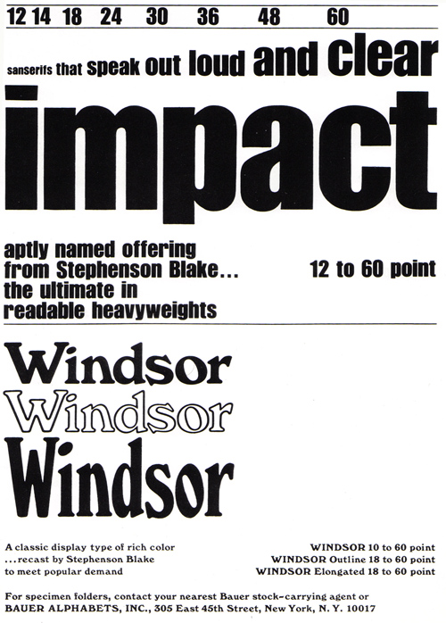 Vintage Ad #735: Impact and Windsor