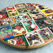 Red Sox Baseball Card Collage - Lazy Susan