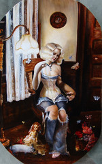 mending (tina.imel) Tags: portrait rabbit painting bride doll surrealism moth victorian portraiture corset tina etsy oilpainting emperor realism entomology realistic anatomical printsavailable imel neosurrealism victoriancorset tinaimel feminineart