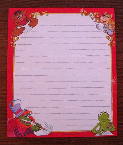 Hallmark 1979 Muppet Stationery