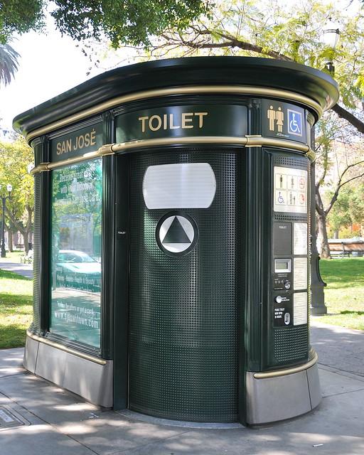 Plaza de Cesar Chavez public toilet
