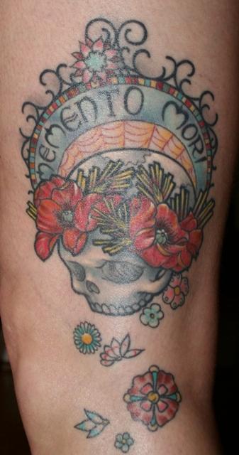 memento tattoo. my Memento Mori tattoo has
