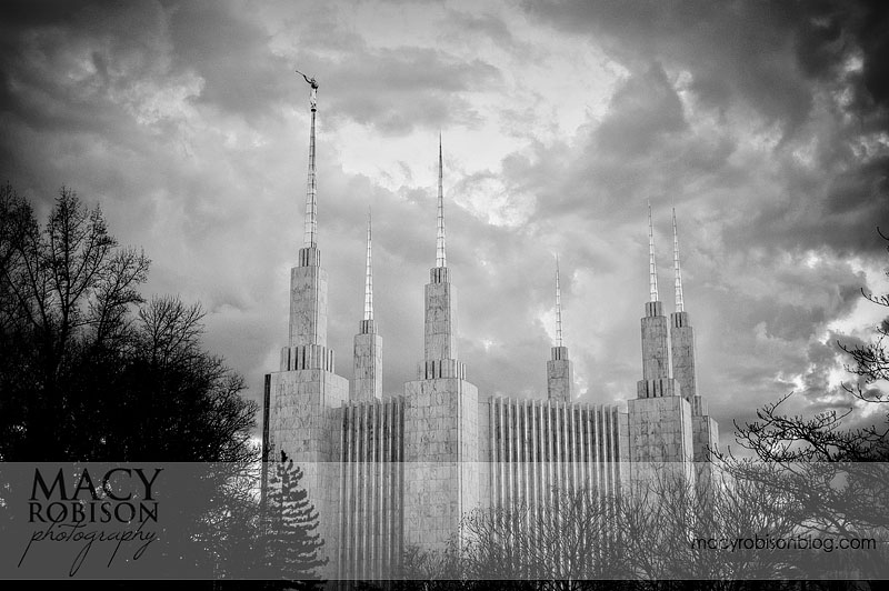 Washington DC Temple - B&W 2
