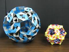 2) Sonobe Rhombicosidodechahedron (Modular Origami) (Origami Tatsujin 折り紙) Tags: art colors paper paperart origami geometry modular sonicboom fold create multicolored japaneseart papiroflexia module papercraft unit papercrafts polyhedra modularorigami おりがみ multidimensional 折り紙 sonobe geometricbeauty geometricart cooperativelearning colorfulart tetrahedralsymmetry analyticalgeometry origamitutorial modularorigamiorigami rhombicosidodechahedron mathematicsofpaperfolding mathematicsorigami origamitechniques