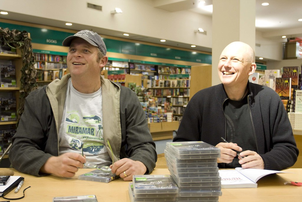 Al Brown and Steve Logan taking some time to do a signing