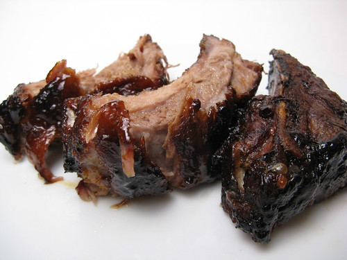 Pork Ribs with Pomegranate BBQ Sauce