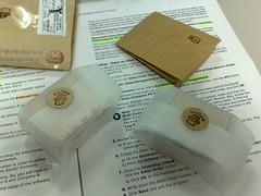兩個章&布貼紙手工包裝