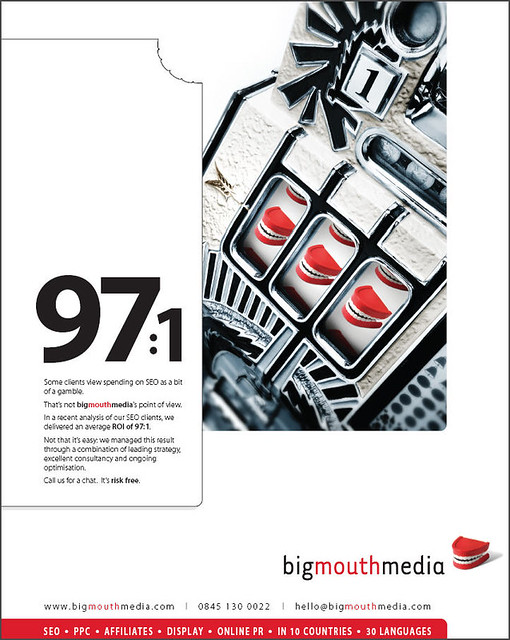 Fancy a 971 ROI on your SEO campaign by Bigmouthmedia