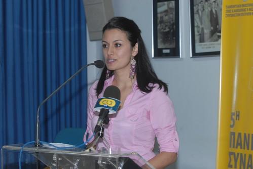 Η εισηγήτρια κ. Μυροφόρα Ευσταθιάδου