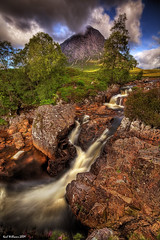 The Buachaille (Shuggie!!) Tags: water landscape scotland waterfall rocks williams karl glencoe hdr buachaille glenetive karlwilliams magicunicornverybest magicunicornmasterpiece