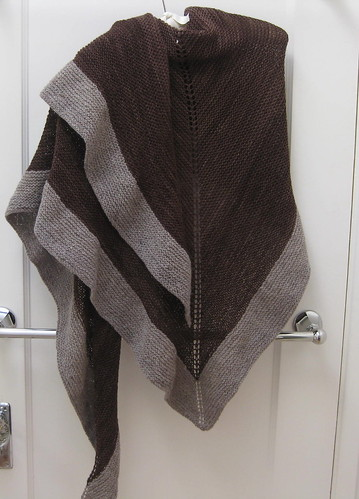 Chocolate shawl, again
