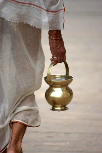 Carrying Water From The Holy Ganga