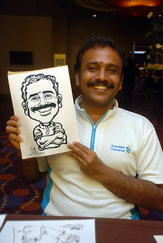 Caricature live sketching for Standard Chartered Bank - 14
