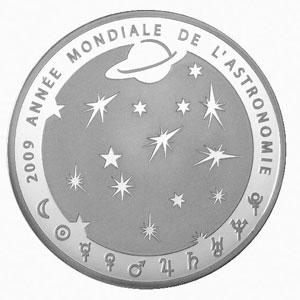APOLLO 11 / ANNEE MONDIALE DE L'ASTRONOMIE 2009 / FRANCE 10 EUROS ARGENT