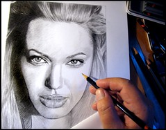 Angelina Jolie 04. work in progress (pbradyart) Tags: portrait bw art pencil star sketch artwork drawing angelinajolie pencildrawing filmstardrawing angelinajoliedrawing angelinajoliesketch angelinajolieportrait angelinajolieart