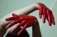 Les mains sales-28 (metatong) Tags: red color painting rouge blood hands acrylic hand main peinture killer murder dexter sang mains guilty murderer coupable acrylique tueur d300 redpaint meurtre meurtrier peinturerouge