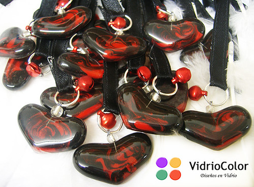 Rojo y negro marmolado