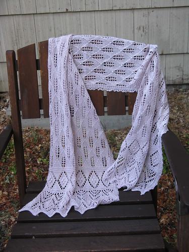 Lilac leaf shawl
