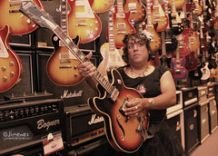Vee Sonnet (Subject is too Cute) Tags: woman chicago hot silly sexy girl naked weird funny dress boobs guitar skirt odd latino latina undies crossdresser