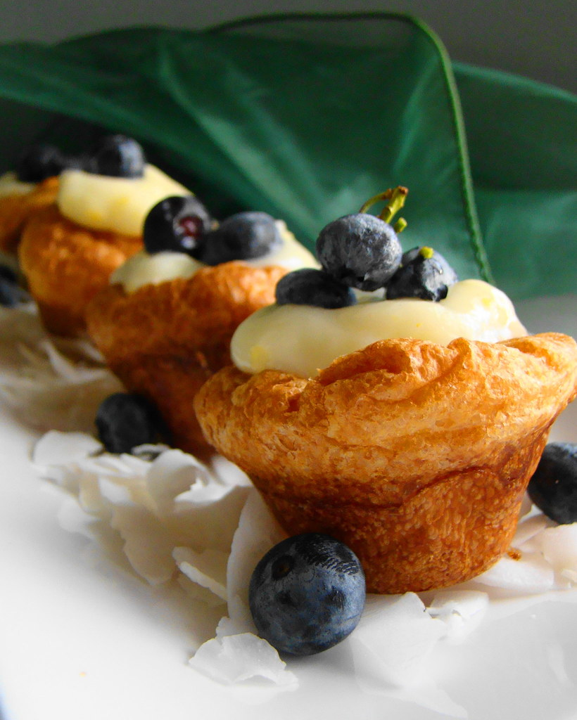 Blueberry Coconut Kreme Popovers
