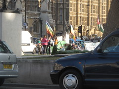 Protesters at Parliament square
