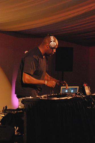 DJ Logic in the Lyons Lounge