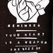 Heart Loving Fighting Stencil